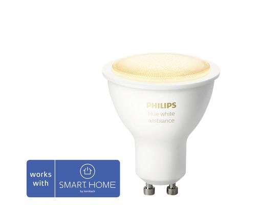 Réflecteur LED Philips hue White Ambiance à intensité lumineuse variable blanc GU10 5W 350 lm 2200K-6500 K MR16 - compatible avec SMART HOME by HORNBACH