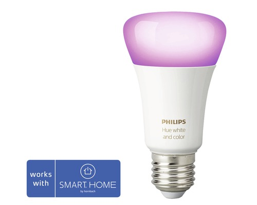 Philips hue LED Lampe White & Color Ambiance dimmbar lila E27 9,5W 806 lm 2000K-6500 K RGB - Kompatibel mit SMART HOME by hornbach