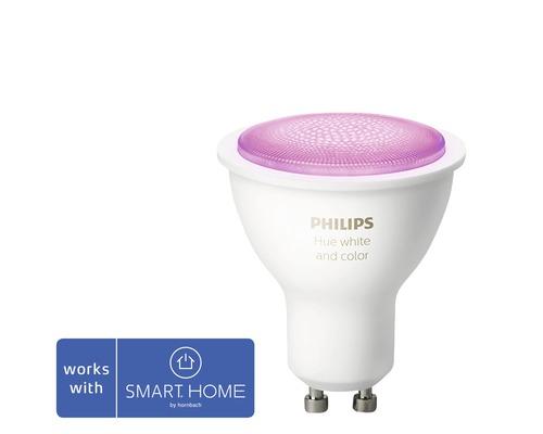 Philips hue LED Reflektorlampe White & Color Ambiance dimmbar lila GU10 5,7W 350 lm 2000K-6500 K MR16 RGB - Kompatibel mit SMART HOME by hornbach
