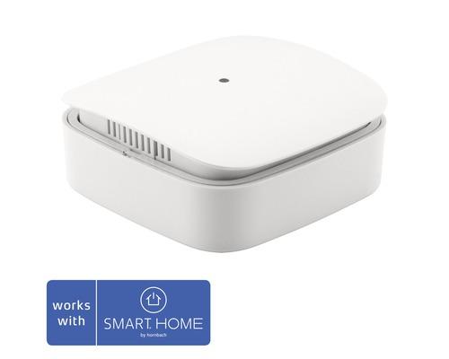 Capteur d''humidité et de température Z-Wave blanc Eurotronic hxlxp 56x56x24mm compatible avec tous les produits SMART HOME by HORNBACH