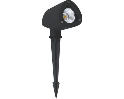Spot extérieur LED IP65 7,5W 650 lm 3000 K blanc chaud Gartia noir avec piquet de terre 1 ampoule 38°