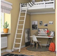 Escalier pour lit surélevé blanc apprêté 2 parties Dolle avec 10 marches-thumb-1
