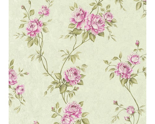 Papier peint intissé 37226-4 Romantico Ornement floral rose