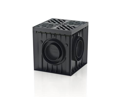 Regard Recyfix Point avec grille caillebotis 300x300x300mm gris