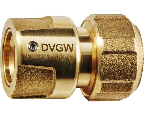 """Élément de tuyau plus GEKA laiton homologué DVGW (Société Allemande de l'Industrie du Gaz et des Eaux) 3/4""""-0"""