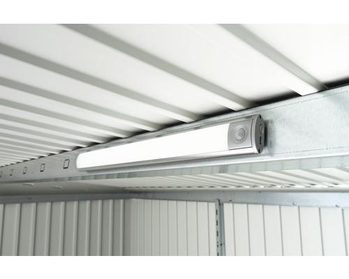 Éclairage LED biohort avec détecteur de mouvement et interrupteur d''éclairage permanent à batterie pour remises à outils et armoires de jardin