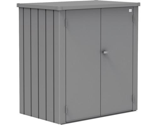 Armoire de terrasse biohort Romeo avec 3 montants d''étagères et 2 étagères galvanisées à chaud taille L 132x87x140cm gris quartz métallique