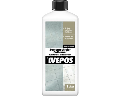 Enlève-voile de ciment pour pierre naturelle et marbre Wepos 1000ml-0