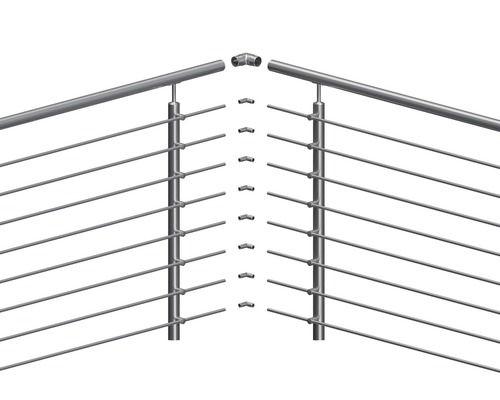 Raccord d''angle Pertura pour barres transversales inox rond