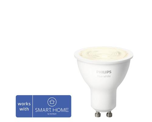 Réflecteur LED Philips hue White à intensité lumineuse variable blanc GU10/5,2W 400 lm 2700 K MR16 - compatible avec SMART HOME by HORNBACH