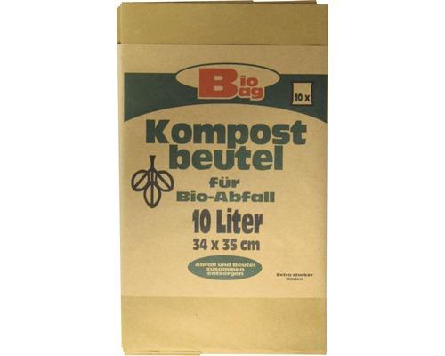 Sac compostable Bio Bag 10 l brun 10 pièces
