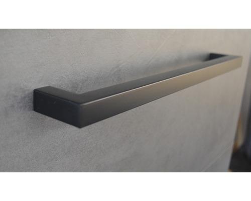 Poignée de meuble Seville 16 cm noir mat