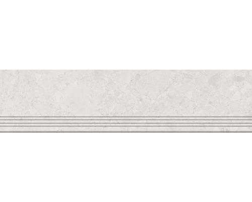 Carrelage de marches en grès cérame fin Donau beige 30x120cm
