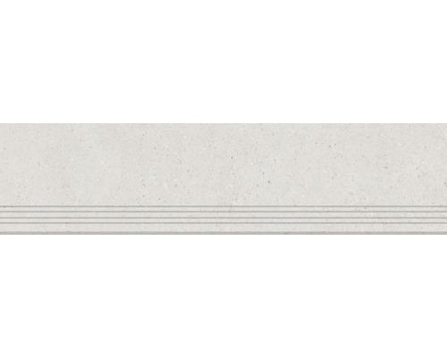 Carrelage de marches en grès cérame fin Alpen beige 30x120cm