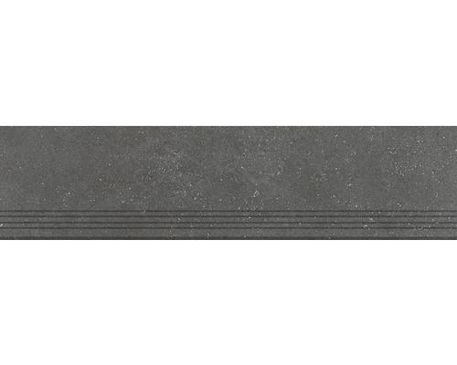 Marche en grès cérame fin graphit 120x30 1cm