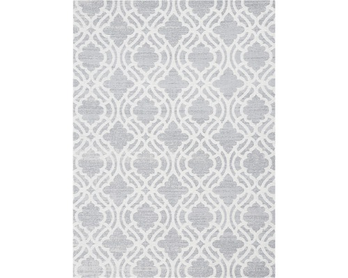 Tapis Carina gris floral 80x150cm