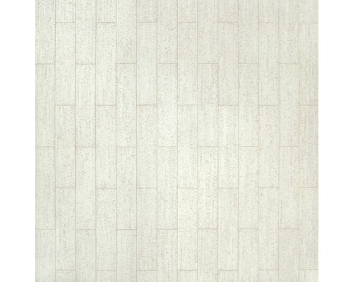 Sol en liège 4.0 Sagres blanc de 600x150mm