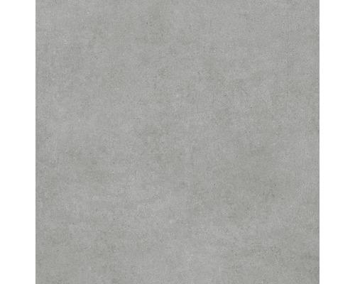 Carrelage pour mur et sol en grès cérame fin Structure gris, gris mat 60x60cm