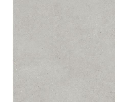 Carrelage pour mur et sol en grès cérame fin Structure gris mat 60x60cm