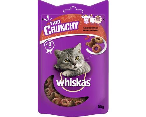 Friandise pour chat whiskas Trio Crunchy viande 55 g
