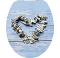WC-Sitz form & style MDF Sculpture Heart mit Absenkautomartik und leicht abnehmbar