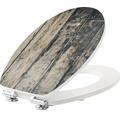 WC-Sitz form & style MDF Oldwood mit Absenkautomartik und leicht abnehmbar