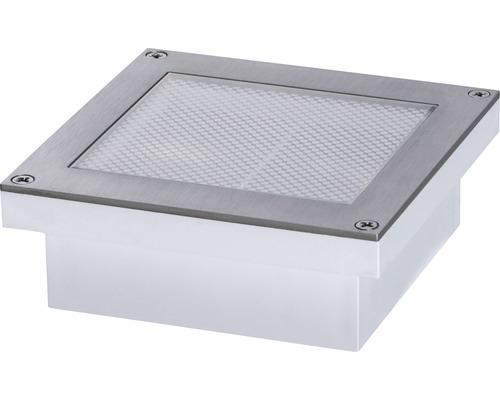 Lampe solaire encastrée au sol à capteur à LED IP67 0,7W 50 lm 3000 K blanc chaud Aron blanc hxlxp 36,5x200x100 mm