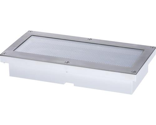 Lampe solaire encastrée au sol à capteur à LED IP67 1,5W 40lm 3000K blanc chaud Aron blanc Hxlxp 36,5x200x100mm