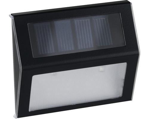 Lampe solaire à capteur à LED IP44 0,05W 4lm 3000K blanc chaud Dayton gris Hxlxp 80x100x20 mm lumière d''escalier