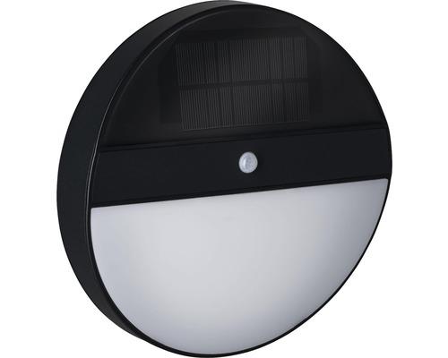 Applique murale solaire à capteur à LED IP44 1,0W 100lm 3000K blanc chaud Elois anthracite Øxp 220x50mm