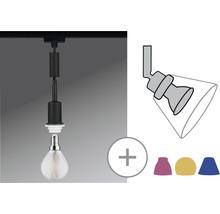 Suspension URail Paulmann DecoSystems 1 ampoule noir mat 230V-thumb-1