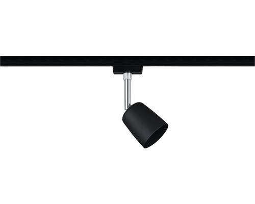 Spot URail Paulmann 1 ampoule Cover noir mat chromé 230V