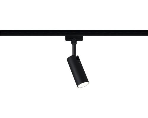 Spot URail Paulmann 1x5W 170 lm 4.000 K blanc neutre Tubo noir mat chrome 230V