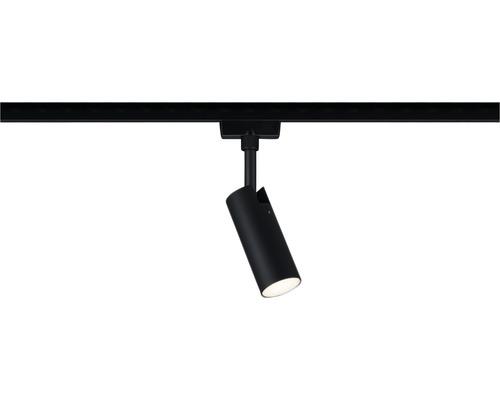 Spot URail Paulmann 1x5W 160 lm 3.000 K blanc chaud Tubo noir mat 1 ampoule 230V