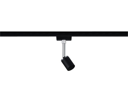 Spot URail Paulmann 1 ampoule Pure II noir mat 230V