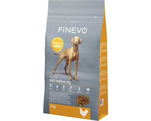Hundefutter trocken Adult Dog M FINEVO Huhn 3 kg