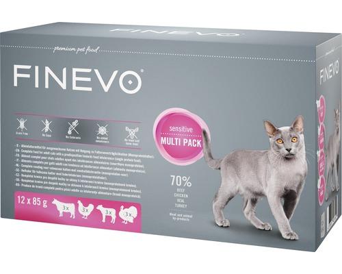 Nourriture humide pour chats FINEVO Sensitive Cat Mix 12x85 g