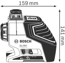 Linienlaser Bosch Professional GLL 3-80 inkl. 4 x Batterie (AA), Laserzieltafel im Handwerkerkoffer-thumb-4