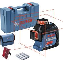 Linienlaser Bosch Professional GLL 3-80 inkl. 4 x Batterie (AA), Laserzieltafel im Handwerkerkoffer-thumb-0