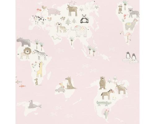 Papier peint 210934 Kids&Teens 3 carte géographique rose