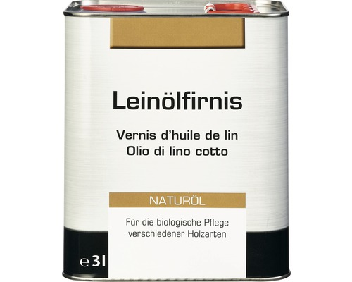 Vernis d'huile de lin NEUTRAL incolore 3 l