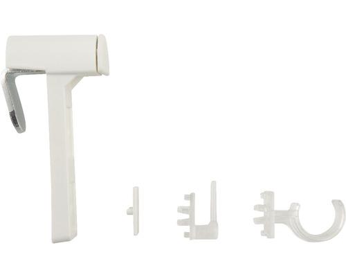 Support de serrage pour tringle à rideaux Vitrage blanc lot de 2