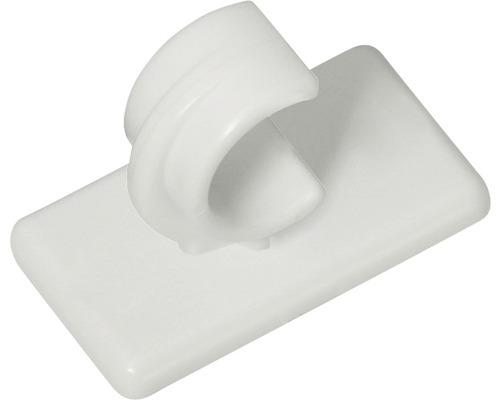 Support pour tringle à rideaux court blanc lot de 2