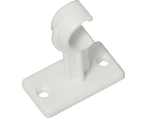 Support pour tringle à rideaux long blanc lot de 2