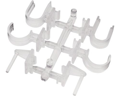 Support de serrage pour tringle à rideaux Vitrage transparent lot de 2