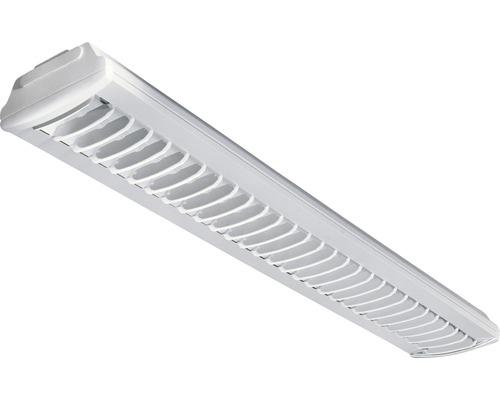 Luminaire à grille G13 à 1 ampoules, blanc, L 1250 mm