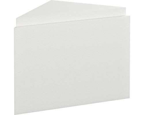 Pièce de remplissage avec bloc de montage et plaque de robinetterie pour montage d''angle pour OF Tilas 53,2 x 75,2 cm