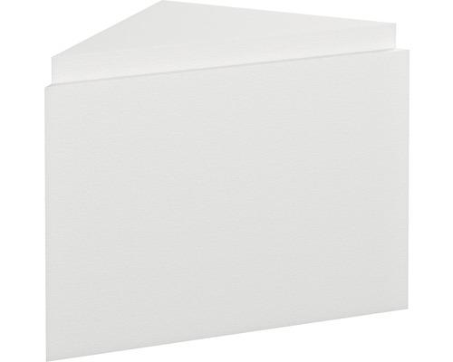 Pièce de remplissage avec bloc de montage et plaque de robinetterie pour montage d''angle pour OF Sofia 56,7 x 80,2 cm