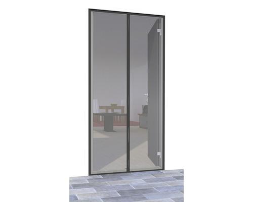 Rideau de porte avec fermeture magnétique home protect Premium sans perçage anthracite 100x220 cm
