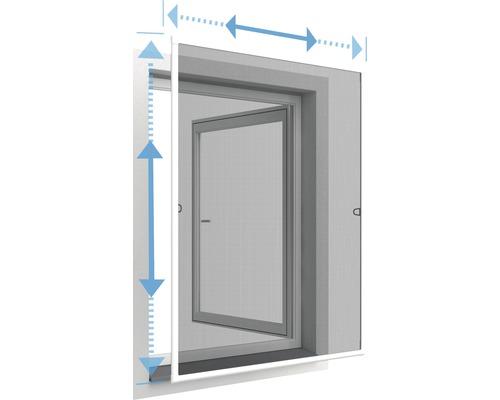Moustiquaire cadre de fenêtre télescopique home protect blanc 100x120cm
